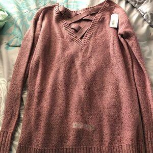 Arizona cross front sweater